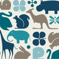 Eclectic Wallpaper by DwellStudio