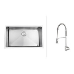 Ruvati - RVC2306 Stainless Steel Kitchen Sink and Polished Chrome Faucet Set - Ruvati sink and faucet combos are designed with you in mind. We have packaged one of our premium 16 gauge stainless steel sinks with one of our luxury faucets to give you the perfect combination of form and function.