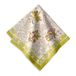 Origin Crafts - Petit fleur napkins (green), set of 6 - Petit Fleur Napkins, Set of 6 (Green) Bring the romance of Southern France to your home with our richly colored, hand-printed cotton linens. Dotted with delicate flowers and tiny berries, Petit Fleur captures the innocent charm of a fairy garden. Set upon an airy backdrop of pastel blue or Easter pink, these table linens, runners and tea towels are perfect for an outdoor f�te or a picnic in the spring. Fine French table linens, hand-printed. Designed by Bruno Lamy exclusively for Couleur Nature. Designed by Bruno Lamy exclusively for Couleur Nature. Suitable for everyday use. Easy care, machine washable, color fast. 100% cotton. Dimensions (in):19x19 By Couleur Nature - Couleur Nature is a wholesaler of fine, French-inspired Indian woodblock-printed and vintage linens. Couleur Nature?s linens and home accessories are versatile and can be used for formal or casual table settings year-round, as well as the every day. Their distinct but wide appeal makes them ideal for almost any occasion, decor or personal style. Usually ships in three business days. Our linens are handmade: slight variations are natural and make each piece unique.