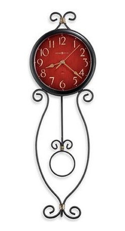 HOWARD MILLER - Howard Miller Addison Metal Wire Wall Clock - This metal wall clock is finished in antique black with antique gold highlights.