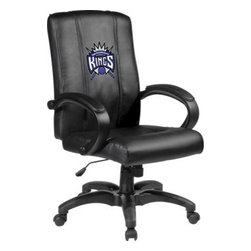 Dreamseat Inc. - Sacramento Kings NBA Home Office Chair - Check out this Awesome - it's one of the coolest things we've ever seen. Features a zip-in-zip-out logo panel embroidered with 70,000 stitches. Converts from a solid color to custom-logo furniture in seconds - perfect for a shared or multi-purpose room. Root for several teams? Simply swap the panels out when the seasons change. This is a true statement piece that is perfect for your Man Cave or Home Office, and it's a must-have for the person who wants to personalize their work space.
