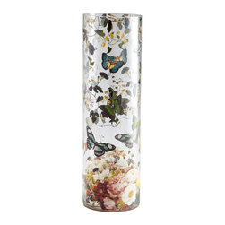 Cyan Design - Butterfly Effect Vase - Large - Large butterfly effect vase - multi colored