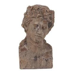 Howard Elliott Ancient Roman Old World Male Ceramic Bust II - Ancient roman old world male ceramic bust.