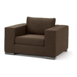 Apt2B - Hillandale Wide Arm Chair - Perfect to curl up or spread out, this arm chair offers both modern sophistication and exquisite comfort. Constructed in Los Angeles from ecofriendly hardwood, this sleek upholstered piece will become your new power chair.