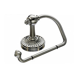 """Top Knobs - Tuscany Bath Tissue Hook - Brushed Satin Nickel - Length - 2 1/2"""", Projection - 3 1/2"""", Ring / Hook Diameter - 5"""" w x 3"""" h, Base Diameter - 2 1/2"""" w (x) 2 1/2"""" h"""