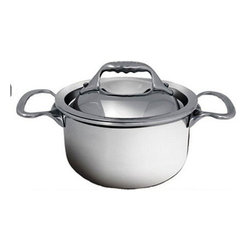 """de Buyer - de Buyer Affinity Multiply Stainless Steel Mini Stew Pan with lid - 0.79 qt. - 7-layers of a combined alloy of stainless steel and aluminum.Very quick cooking and even heat distribution throughout the pan due to the alloy. Special innovative ferro-magnetic bottom ensure cookware is suitable for induction cooktops.Polished stainless steel exterior. Round edges Pouring rim and the cast stainless steel ergonomic handle firmly riveted. Suitable for all cooktops including induction. Dishwasher safe.; however handwash recommended. Dimensions: 4.7"""" diameter x 3"""" high (12cm x 7cm) Made in France."""