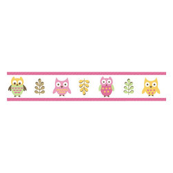Sweet Jojo Designs - Happy Owl Wallpaper Border by Sweet Jojo Designs - The Happy Owl Wallpaper Border by Sweet Jojo Designs, along with the  bedding accessories.
