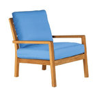 Barlow Tyrie Avon Teak Armchair with Sky Blue Cushion