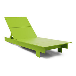 Loll Designs - Lollygagger Chaise, Leaf Green - The Lollygagger Chaise is an important part of our Lollygagger family collection as it truly is intended for extended relaxing; even napping. The lighter weight of the piece makes it easy to swing around with the direct rays of the sun. The back adjusts to six different angles so when you need a break from the action the Lollygagger Chaise accommodates your mood swings without asking questions. The Lollygagger Chaise pairs well with the Lollygagger Ottoman (Side Table) to hold your favorite beverage and other sun bathing related accessories.