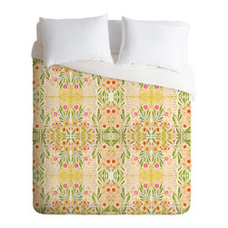 DENY Designs - DENY Designs Cori Dantini Meadows Duvet Cover - Lightweight - Turn your basic, boring down comforter into the super stylish focal point of your bedroom. Our Lightweight Duvet is made from an ultra soft, lightweight woven polyester, ivory-colored top with a 100% polyester, ivory-colored bottom. They include a hidden zipper with interior corner ties to secure your comforter. It is comfy, fade-resistant, machine washable and custom printed for each and every customer. If you're looking for a heavier duvet option, be sure to check out our Luxe Duvets!