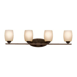 Kichler - Kichler Eileen Bathroom Lighting Fixture in Olde Bronze - Shown in picture: Kichler Bath 4Lt in Olde Bronze