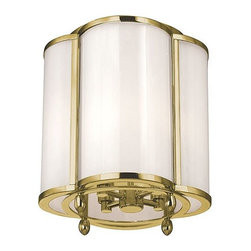 Hudson Valley - Hudson Valley 7600-OB Hudson Valley Lighting 7600-AGB Aged Brass Berkshire 4 Lig - Hudson Valley Lighting 7600 Berkshire 4-Light Flush Mount Ceiling Light 4-Light Flush Mount Ceiling LightWhile the quatrefoil traces its roots to northern