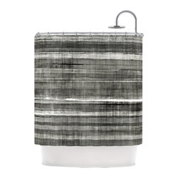 """Kess InHouse - CarolLynn Tice """"Grey Accent"""" Dark Neutral Shower Curtain - Finally waterproof artwork for the bathroom, otherwise known as our limited edition Kess InHouse shower curtain. This shower curtain is so artistic and inventive, you'd better get used to dropping the soap. We're so lucky to have so many wonderful artists that you'll probably want to order more than one and switch them every season. You're sure to impress your guests with your bathroom gallery in addition to your loveable shower singing."""