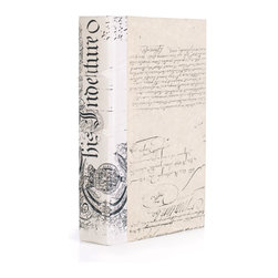 Go Home - Single Ivory Bold-Spenserian Book - Single Ivory Bold-Spenserian Book can give a common thread to decor where the presence of history is an element of design.Book sizes may slightly vary.