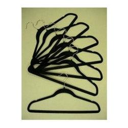 Proman Products - Velvet Plastic Huggable Suit Hanger - Set of - Set of 100