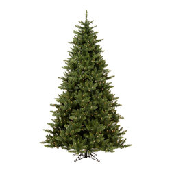"""Vickerman - Camdon Fir 800LED WmWhite (7.5' x 55"""") - 7.5' x 55"""" Camdon Fir Tree 800 LED Frosted Warm White Italian Lights, 1758 PVC tips, On/Off Switch Cord Utilizes energy-effiecent, durable LED technology."""