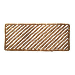 Rectangular Stripes Wire Brush Doormat - The stylish Rectangular Stripes Wire Brush Doormat is sure to add some style to your entryway. Crafted all natural coconut fiber and wire, this rug can stand up to the daily wear of high-traffic areas. The rug features a diagonal stripe design and is mold-, mildew-, and fade-resistant.