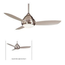 Minka Aire - Minka Aire Concept I 52 Wet Ceiling Fan in Brushed Nickel Wet - Minka Aire Concept I 52 Wet Model F577-BNW in Brushed Nickel Wet with Silver Finished Blades. Included Single Light Fixture for Concept II.