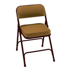 National Public Seating - National Public Seating Textured 2 Inch Upholstered Seat Folding Chair - The folding chair has been taken to a new level with the 2 inch thick box seat chair. Just take a seat and you'll see that this is like no other folding chair. The fabric is scotch guarded to prevent staining. Incorporating a chair truck makes these chairs highly portable.