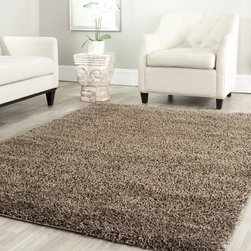 Safavieh - Safavieh Shag Mushroom Rug (4' Square) - Safavieh's Shag collection is inspired by timeless contemporary designs crafted with the softest polypropylene available.