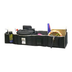 Florida Brands - Florida Brands 4-Section Adjustable Trunk Organizer in Black - Velcro lining attached to hold organizer firmly in place