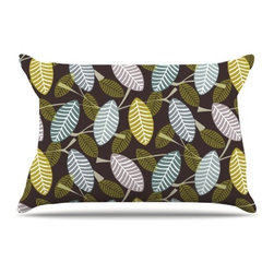 """Kess InHouse - Julie Hamilton """"Moss Canopy"""" Pillow Case, Standard (30"""" x 20"""") - This pillowcase, is just as bunny soft as the Kess InHouse duvet. It's made of microfiber velvety fleece. This machine washable fleece pillow case is the perfect accent to any duvet. Be your Bed's Curator."""