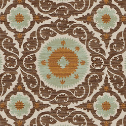 Chandra Celadon Fabric By The Yard