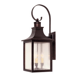 Savoy House - Savoy House 5-259-13 Monte Grande Wall Mount Lantern - A grand welcome for any stately address ? at an incredible price. finished in English Bronze with pale cream seedy glass, these fixtures create an easy appearance of unmistakable exterior elegance.