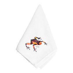 Caroline's Treasures - Frog Napkin 8689NAP - Frog Napkin 8689NAP Dinner Napkin - 100% polyester - wash, dry and lay flat.  No ironing needed.  20 inch by 20 inch