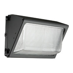 Lithonia - Lithonia TWR2 79W LED Outdoor Wall Pack - The TWR LED combines traditional wall pack design with high-output LEDs to provide an energy efficient, low maintenance LED wall pack. The traditional shape helps maintain building aesthetics when replacing only a portion of your building's wall packs. TWR LED is ideal for outdoor applications such as carports, loading areas, driveways and parking areas.