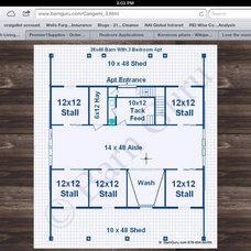 5 stall barn with apartment http://www.barnguru.com/Cangemi_3.html
