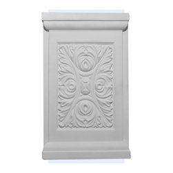 "Inviting Home - Annapolis Plinth - plinth 5-1/4""W x 8-5/8""H x 1-1/4""D This outstanding quality plinth made from high density polyurethane factory primed. This plinth is lightweight durable and easy to install using common woodworking tools. Plinth for pilasters can be finished with any quality paints."