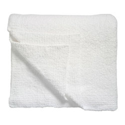 """Kashwere - Kashwere Solid Blanket White - Embodying simple sophistication, the rectangular Kashwere throw lends a clean, contemporary design to modern decor. The white blankets luxuriously soft fabric pampers with sumptuous texture and depth.  Queen: 70"""" x 90"""", King: 88"""" x 96""""; Machine washable; 100% Kashwere Chenilla synthetic fiber"""