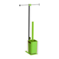 Gedy - Steel and Resin Bathroom Butler in Green - Made in steel and resin and coated in green.