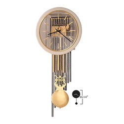 "Howard Miller - Howard Miller 65"" Triple Chime Wall Clock with Pendulum & Weights 