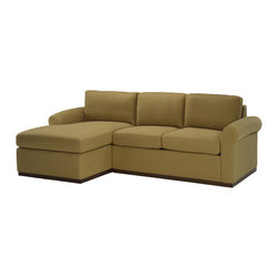 Lazar Industries - Eclipse Sectional:  Chaise and Adjacent 2-Seater Sleeper Sofa in Covergirl Sand - Eclipse Sectional:  Chaise and Adjacent 2-Seater Sleeper Sofa by Lazar Industries offers a compact rolled arm for traditional zeal on a fashion-forward frame.