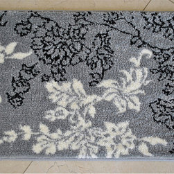 EverRouge - Memory Foam Grey/ White Floral 20 x 32 Bath Mat - This memory foam rug is the perfect combination of luxury and comfort.  With 35D high density memory foam and truly handmade rug construction,this rug has set itself far apart from the competition.