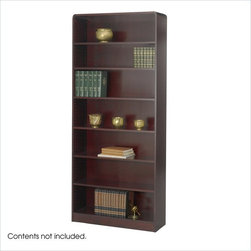 Safco - Safco WorkSpace Seven Shelf Radius Edge Bookcase in Mahogany - Safco - Bookcases - 1526MHC - This large 7-shelf radius edge bookcase is equally practical for home and office and features six adjustable shelves as well as lower fixed shelf.