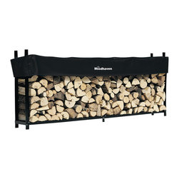 """Woodhaven - 10' Firewood Rack With Standard Cover - This unit is 12 in. longer than """"standard"""" 0.25 cord firewood racks and holds 25% to 35% more than others."""