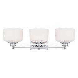 Nuvo Lighting - Nuvo Lighting 60-4583 Soho 3-Light Vanity Fixture with Satin White Glass - Nuvo Lighting 60-4583 Soho 3-Light Vanity Fixture with Satin White Glass