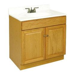 NATIONAL BRAND ALTERNATIVE - Claremont Two Doors Vanity - Features: