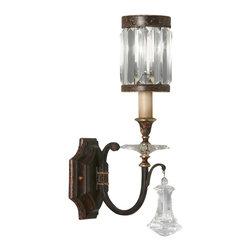 Fine Art Lamps - Fine Art Lamps 582850ST Eaton Place Brown Patina Wall Sconce - 1 Bulb, Bulb Type: 60 Watt Candelabra; Weight: 8lbs