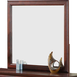 Standard Furniture - Standard Furniture Lewiston Rectangular Mirror in Deep Brown - Quality veneers over wood products and select solids used throughout. Group my contain some plastic parts.