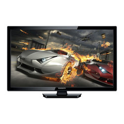 "Magnavox - 24""LED HDTV,720P,3-HDMI,PC,1-USB,1-Component,Headphone Jack - 24-inch (23.6-in. diagonal) widescreen hdtv with stunning narrow bezel, ultra-thin design