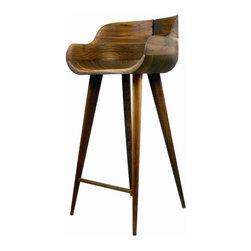"Nuevo - Kieren Counter Stool in Walnut - Features: -Material: Wood. -American walnut. -Dimensions: 35.5"" H x 19.5"" W x 17.5"" D."