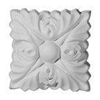 """Ekena Millwork - 3""""W x 3""""H Sellek Rosette (Can be used with Sellek Panel Moulding) - Our rosettes are the perfect accent pieces to cabinetry, furniture, fireplace mantels, ceilings, and more.  Each pattern is carefully crafted after traditional and historical designs.  Each piece comes factory primed and ready for your paint.  They can install simply with traditional adhesives and finishing nails."""