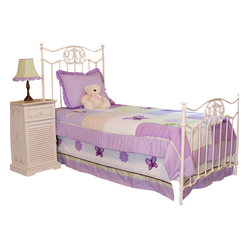 Lavender Butterfly Twin Bedding Set