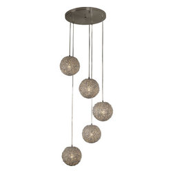Trend Lighting - Trend Lighting TP4220-5 Salon 5 Light Pendants in Aluminum - This 5 light Pendant from the Salon collection by Trend Lighting will enhance your home with a perfect mix of form and function. The features include a Aluminum finish applied by experts. This item qualifies for free shipping!