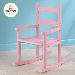KidKraft - Personalized 2-Slat Rocking Chair - Pink - Personalized 2-Slat Rocking Chair - Pink