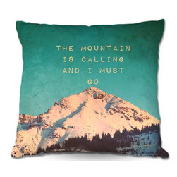 DiaNoche Designs - Pillow Linen - Monika Strigels Mountain is Calling - Soft and silky to the touch, add a little texture and style to your decor with our Woven Linen throw pillows.. 100% smooth poly with cushy supportive pillow insert, zipped inside. Dye Sublimation printing adheres the ink to the material for long life and durability. Double Sided Print, Machine Washable, Product may vary slightly from image.